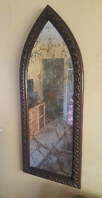 """Large Vintage GOTHIC Style Wall Mirror Gold Vien Mirror Stamped 55""""x22x2"""