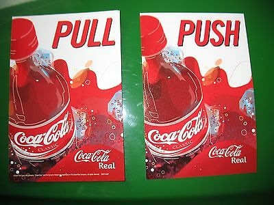 Coca Cola Real Push/pull Glass Door  Vinyl Decal  Size 4In X 6 In Or 10Cm X 15Cm