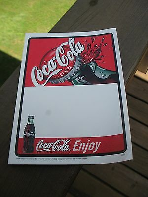 Coca Cola  Classic Static Cling To Glass Decal  5 X 7 Inch 2 Pieces