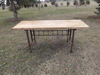"""JOHN BOOS BROTHERS ANTIQUE BUTCHER BLOCK KITCHEN (TABLE TOP ONLY) 72 """" Long"""