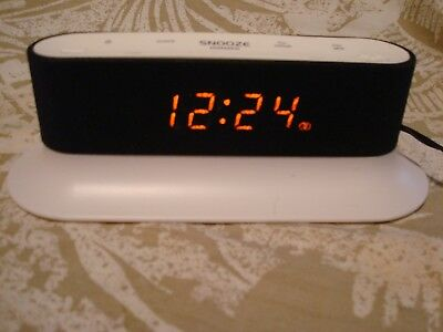Onn FM Alarm Clock Radio - Dual Alarm Snooze/Sleep Function White Free Shipping