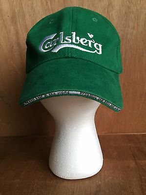 "Carlsberg ""Probably The Best Beer In The World"" Green Hat Cap Adjustable Strap"