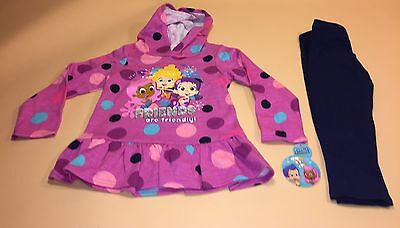 Bubble Guppies Toddler Girl Long Sleeve Shirt & Leggings Outfit Set New 4T