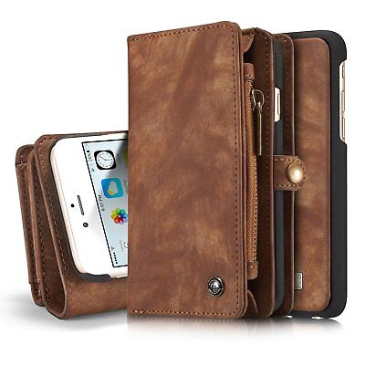 For iPhone 8 7 Plus Luxury Wallet Case Leather Flip Removable Protective Cover