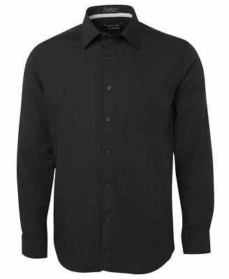 JB's wear Long Sleeve Men's Contrast Placket Hospitality Classic Fit Shirt Top