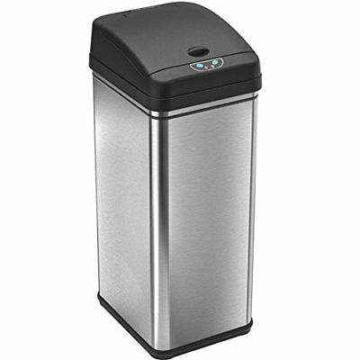 Deodorizer Automatic Sensor Touchless Trash Can, 49 Liter / 13 Gallon, Stainless