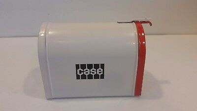Vintage Metal Miniature Mailbox Bank Case Tractor Mail Box White