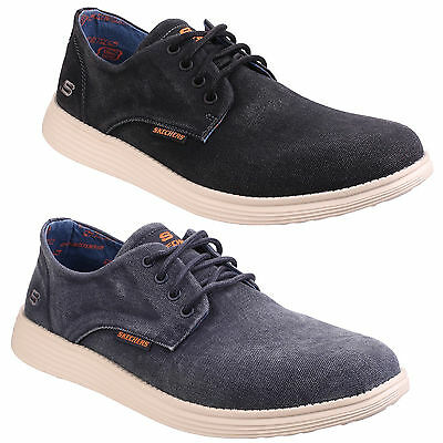 FS3497 Skechers Mens Arcade Chat MF Lace Up Casual Shoes