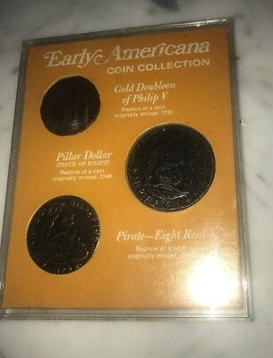 Rare Early Americana Coin Collection Authentic Replica Coins