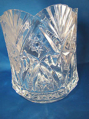 """Cristal D'Arques Vincennes Champagne Crystal 7 1/4"""" by 6 1/4"""" Ice Bucket NIB #23"""