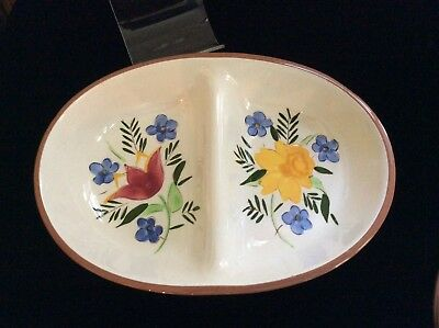 Stangl Country Garden Divided Serving Bowl