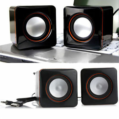 Casse Audio Pc 2.0 Computer Usb Notebook Altoparlanti Stereo Subwoofer Mp3 Mp4