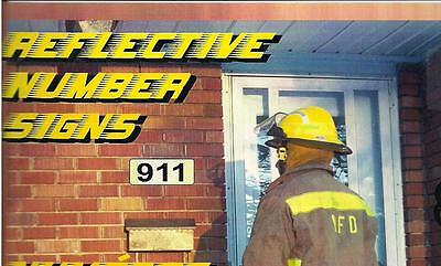 """Reflective """" 911 """" house number signs"""
