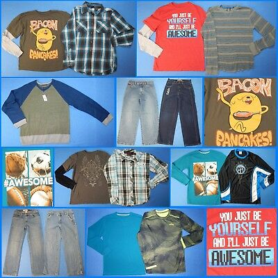 15 Piece Lot of Nice Clean Boys Size 14 Fall School Winter Everyday Clothes fw76