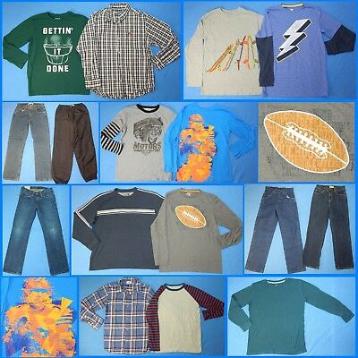 16 Piece Lot of Nice Clean Boys Size 14 Fall School Winter Everyday Clothes fw77