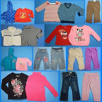 19 Piece Lot of Nice Clean Girls Size 2t 2 24m Fall Winter Everyday Clothes fw39