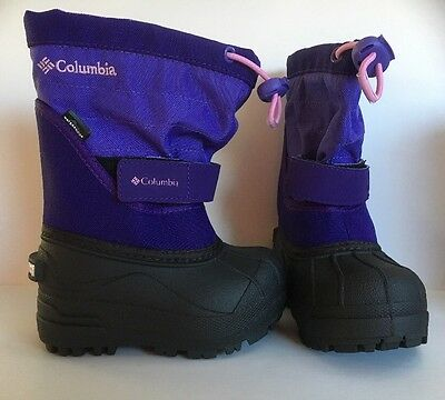 COLUMBIA SNOW BOOTS Twin Tundra Toddler Girl Sz 7 Purple NEW NIB