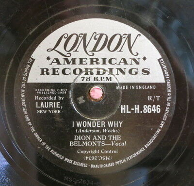 Dion And The Belmonts / I Wonder Why & Teen Angel