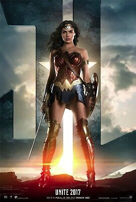 Justice League Movie Poster (24x36) - Gal Gadot, Wonder Woman, Jason Momoa, v2