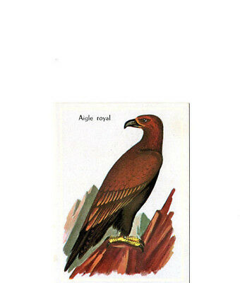"Image Vignette Ancienne Cartonne "" Bon Point "" Oiseau L'aigle Royal"