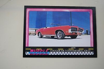 Muscle Cards Series 1 King Of The Hill #62 1970 Cougar Xr-7 428 Cj Convertible