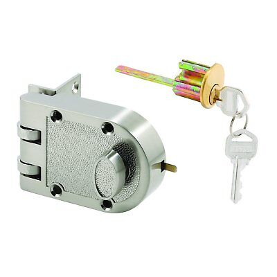 Prime-Line U 10817 Deadlock, Jimmy-Resistant, Single Cylinder Door Lock with a S