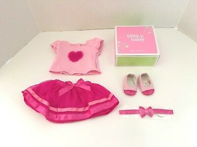 American Girl Bitty Baby Ruffles & Ribbons Outfit for Dolls Brand NEW in AG Box
