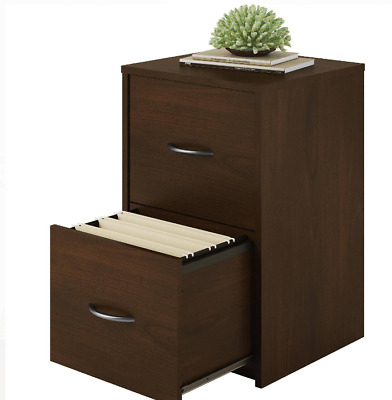 File Cabinet 2 Drawer Wood Filing Storage letter-sized files Organizer Office