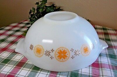 Vintage Pyrex Mixing Nesting Large Bowl Town And Country #444 4 Quart