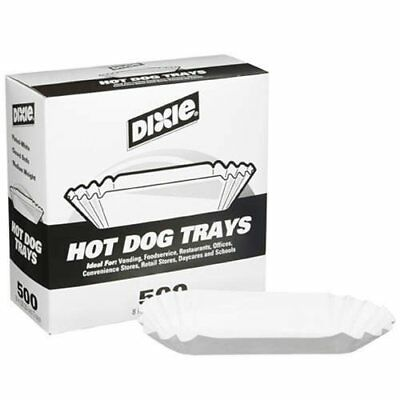 "Dixie 8"" Fluted Hot Dog Tray 2000ct"