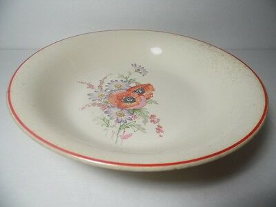 "1940s Vintage Universal China Cambridge Camwood Ivory 9"" Salad or Vegetable Bowl"