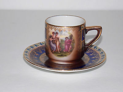 "Vintage Czechoslovakian Small Demitasse Cup and Saucer - ""MS"" Maker Mark"