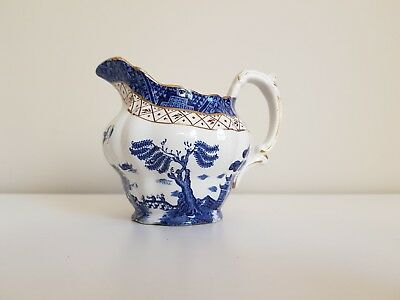 Vtg Real Old Willow Booths Tea Set Milk Jug Oriental China A8025 England Blue