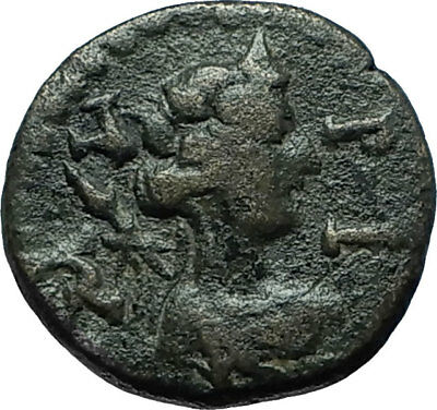 100BC Authentic Ancient Genuine Original GREEK City Coin w DEITY & SENATE i66359