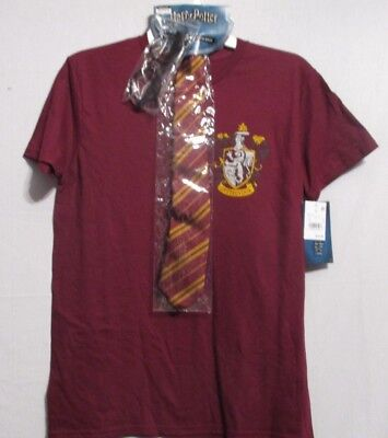 653933bb9 NEW Harry Potter Men Graphic T-Shirt with Tie and Glasses Burgundy Size M