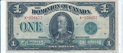 1923 Dominion of Canada $1 Note