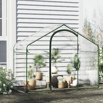 Outdoor Garden Portable PVC Greenhouse w/ Steel Frame for Growing Plants Flowers