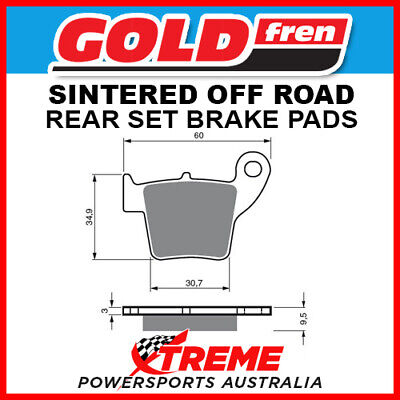 Goldfren Honda CRF250R 2004-2018 Sintered Off Road Rear Brake Pads GF176K5