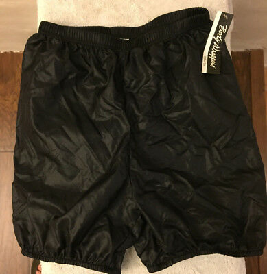 NWT BODY WRAPPERS 746 Black Bloomer Ripstop 100%  Nylon Shorts Adults Size Large