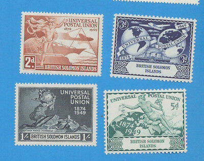 SOLOMON ISLANDS - scott 84-87, SG 77-80 - VFMNH - UPU  - 1949
