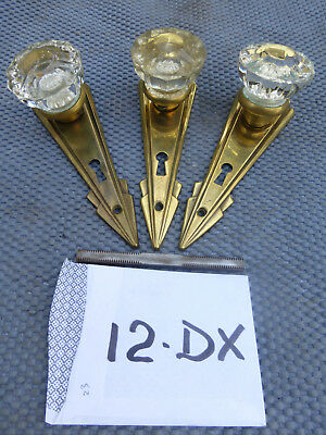 Antique Vintage Art Deco Door Hardware Set # 12DX