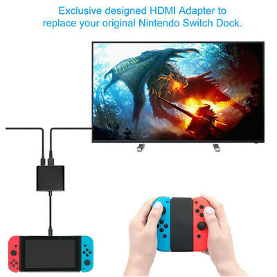 Portable Dock Type-C to HDMI Adapter USB-C Hub With Charging Port For Switch