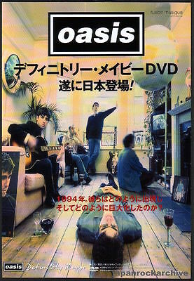 2004 Oasis Definitely Maybe JAPAN dvd press promo ad / print advert o11r