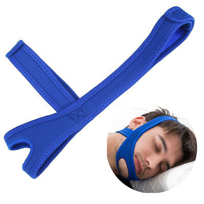 Anti Snore Aid Sleep Apnea Stop Snoring Strap Belt Jaw Chin Support UK