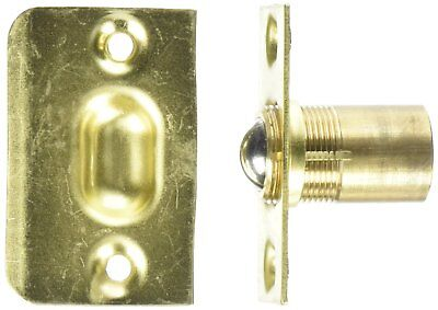 French Doors Fitting Metal Ball Catch w Strike Plate Gold Tone