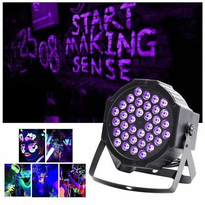 72W LED Black Light Real UV Par Can Stage Lighting DMX Disco Party DJ Light