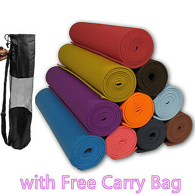 Yoga Mat EXTRA THICK 6mm Soft Non-Slip Exercise/Gym/Camping/Picnic + CARRY BAG