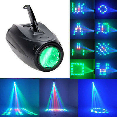 10W 64 LEDs RGBW Airship Beam Stage Lighting Gobo Disco Party Stage Light Lamp