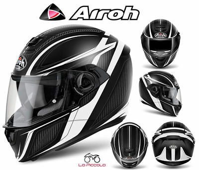 STA55 CASCO INTEGRALE AIROH STORM ANGER ROSSO LUCIDO S 55-56