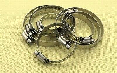 14~114mm Stainless Steel Adjustable Drive Hose Clamp Fuel Line Worm Clip 1/2/5pc